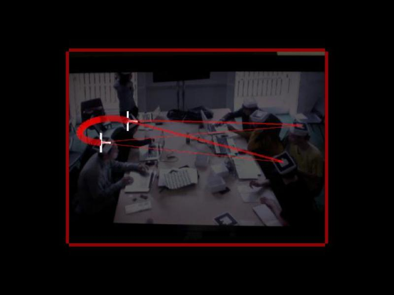 An experimental real-time data visualization of 'interaction density and network' using Augmented Reality (AR) technology and QR-coded apparatus. The notions of surveillance and its corresponding spatial organisation are being explored.
