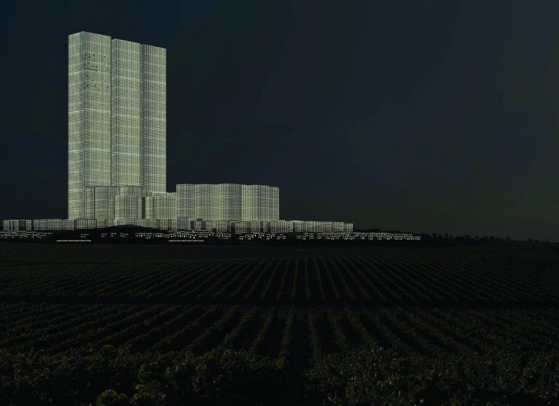 The new city approached through the plain and the vineyards, unobstructed by any unnatural highways.