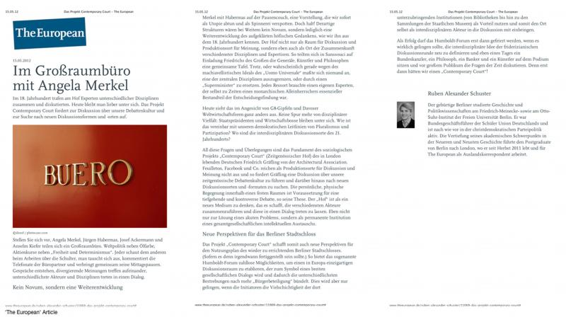 While the first brief organized a series of physical debates among managements and the arts in the University of Maastricht, the second developed into an article, an online debate, in the opinion magazine 'The European'.