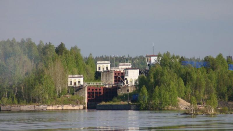 White Sea-Baltic Canal Lock 10 at Vygozero, Republic of Karelia. ©Panoramio