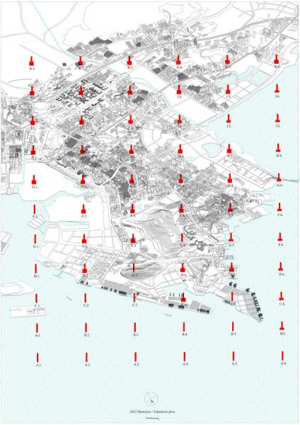 My argument is that the city is no longer a single system concentrated in one area. The city today operates has a series of supply chains that can be understood as the intercultural property of the city. My proposal is therefore ultimately to be reflected in the architecture of the whole city. Not one of a massive factory plans in Shenzhen but as a master scheme which integrates with and interacts with the city