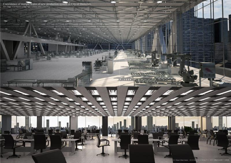 New image of production line / New image  of corporation office  / G.3. Dense urban context