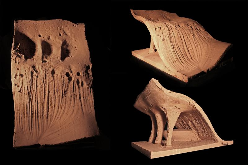 Collage of analogue erosion models