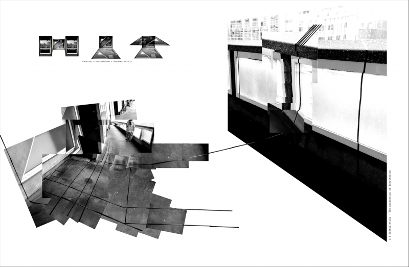 A 1:1 installation - projecting the recurring inhabitation towards the streets in the sky.