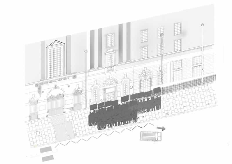 A study of trace and evidence: Looking at the interactions between buildings and people. Specifically looking at the entrance of the BMA.