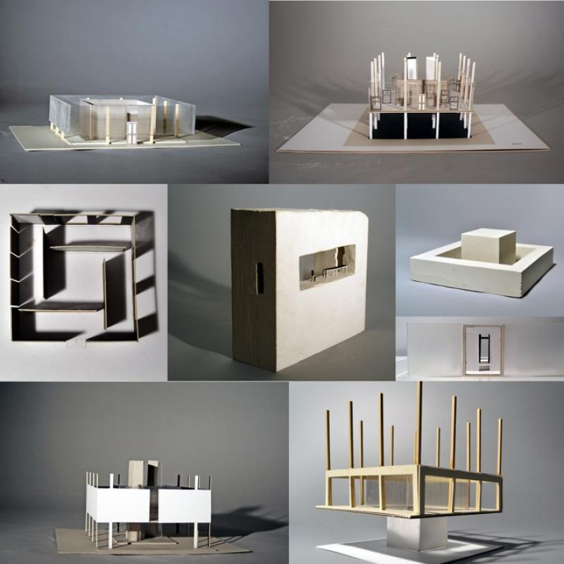 This are a selections of models reflecting the thoughts process I went though in deciding on the details of my apartment design.