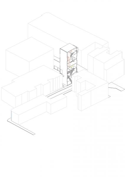 Drawing of the CCT Tower on site in Union Street
