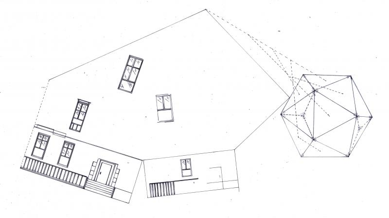 Drawing showing how the camera only takes fragments of the external environment.