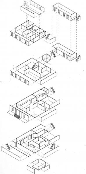 Drawing of possible photo shoot locations within building 36.