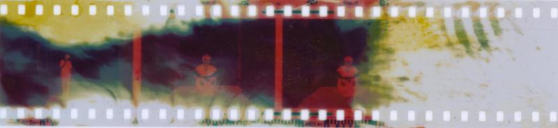 Manipulated film using dyes, citrus juices and bleach.