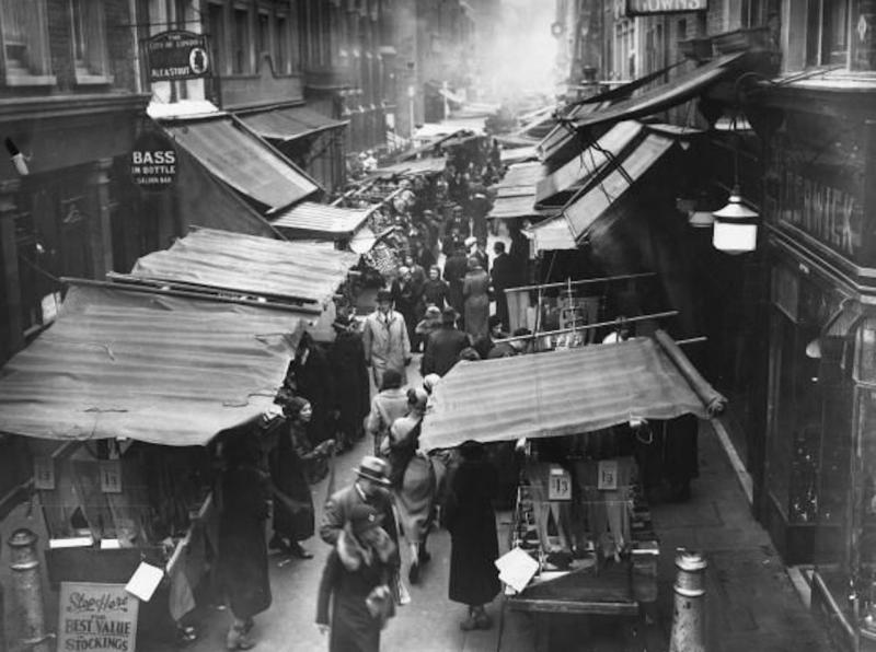 Berwick Street, Soho, London's oldest market, originating in 1933.