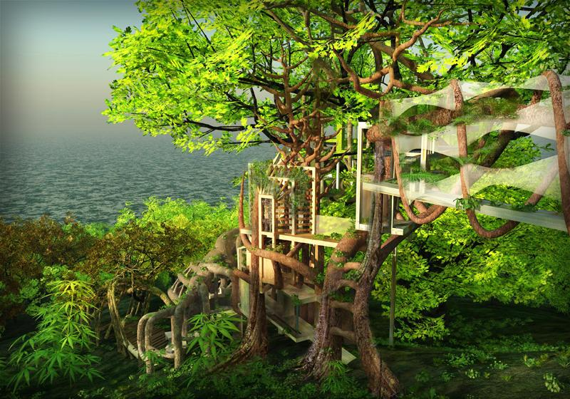 Nature is the master manager of complexity. The Japanese Tsunami recovery scheme plans to transform coastal area into parks and move habitation on to the mountain area. But they do not want to disturb the forest, as it connected to the quality of fish and is a crucial chain in natural water cycle. As a response, the living architecture creates the industrial ecology of buildings, where organic design adapts and flexes and evolves as living creature do.