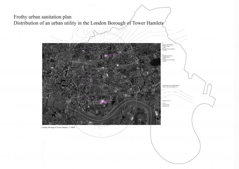 Possible distribution of cleaning utilities in the London Borough of Tower Hamlets