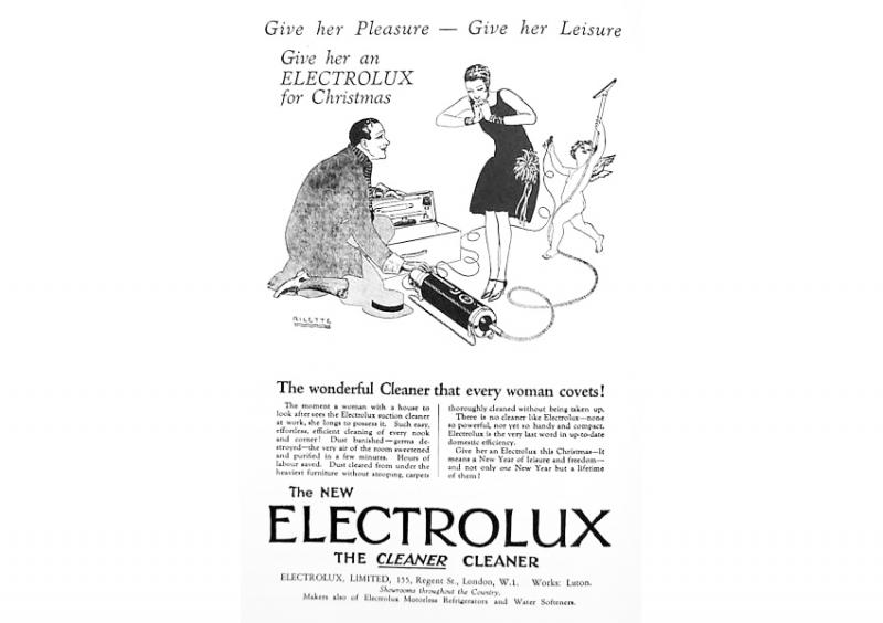 ...give her Leisure, give her Pleasure, give her an Electrolux!