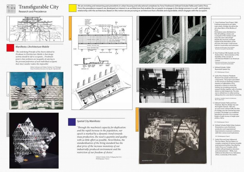 We are revisiting past precedents in urban housing by Yona Friedman, Eckhard Schulze Fielitz and Cedric Price. From the precedence research we developed an interest in an architecture that enables the occupants to engage in the design process.