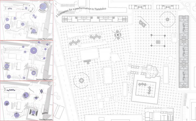 Three scenarios for a play in Tlatelolco