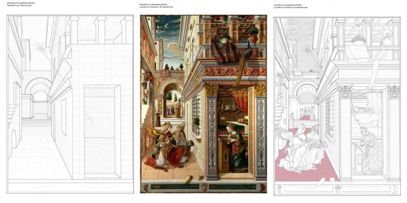 An investigation into the interstitial street space of Carlo Crivelli's Annunciation. 