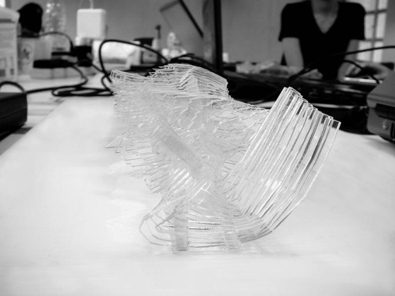 Laser-cut model by Olga Yatsyuk, Evgeniya Yatsyuk, Kenneth Chow